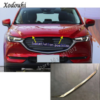 For Mazda CX8 CX 8 2017 2018 2019 2020 Car Sticker Styling Ornament Front Engine Machine Grille Upper Hood Lid Trim Lamp Parts