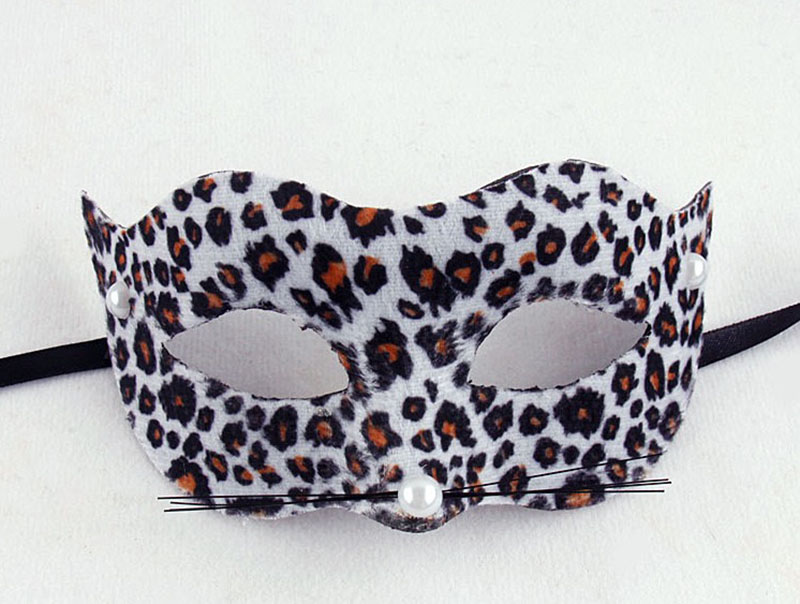 Adult Women & Kid Girls Sexy Halloween Leopard Cat Tiger Mask Costume Props Accessory Masquerade Cosplay Party Mask For Ladies