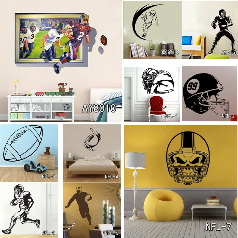 Nfl Wall Art nfl wall stickers promotion-shop for promotional nfl wall stickers