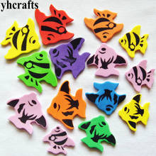 20PCS LOT Colorful fish foam stickers Birthday gifts Home decoration Creative activity items Color learning children