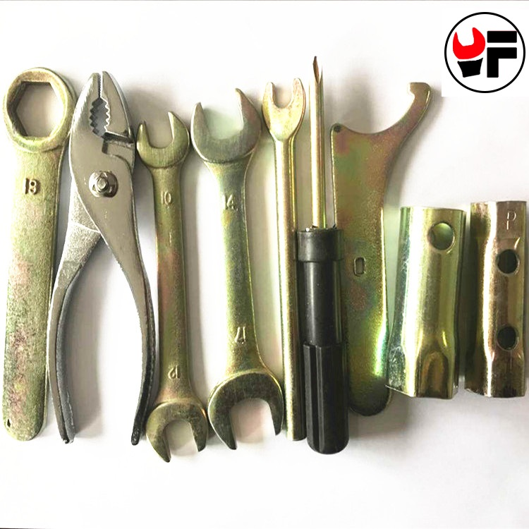Envío gratis 9 piezas stock herramienta manual llave inglesa Destornillador Alicates Conjunto de ferramenta manual Kit de herramientas de reparación de motocicletas