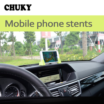 CHUKY Universal Dashboard Car Mobile Phone GPS Holder Adjustable Bracket For BMW E36 F30 F10 E30 M X5 Ssangyong Volvo XC90 V70 image