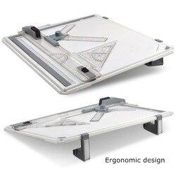 NNRTS A3 Tavolo Da Disegno Portatile Progetto di Pittura Consiglio con Parallelo Governanti Angolo Pinze Testa-lock Angolo Regolabile Art Draw strumento