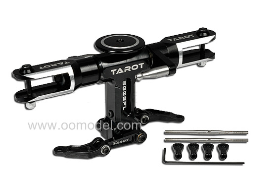 Tarot 500 Parts Tarot 500FL Flybarless Rotor Head TL50123 Black Tarot 500 RC Helicopter Spare Parts FreeTrack Shipping tarot tl48023 01 metal carbon fiber tail gearbox assembly tarot 450 rc helicopter spare parts freetrack shipping