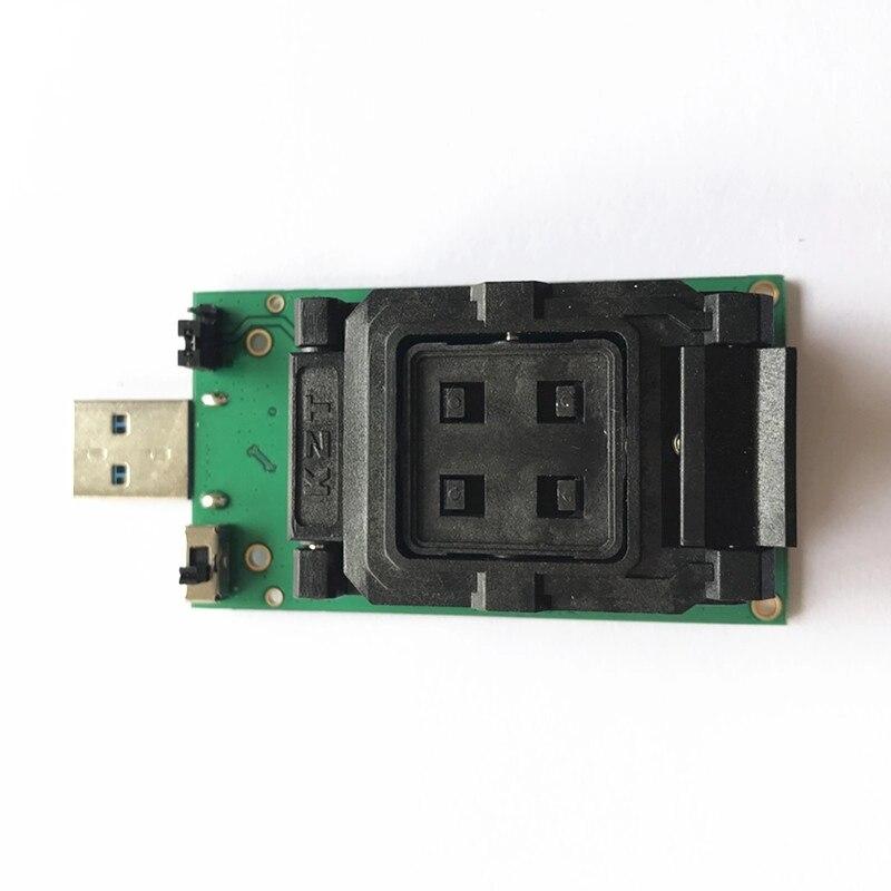 Livraison gratuite BGA254 eMCP254 port prise de Test avec Interface USB 3.0 NAND Test flash prise de programmation à clapet - 2