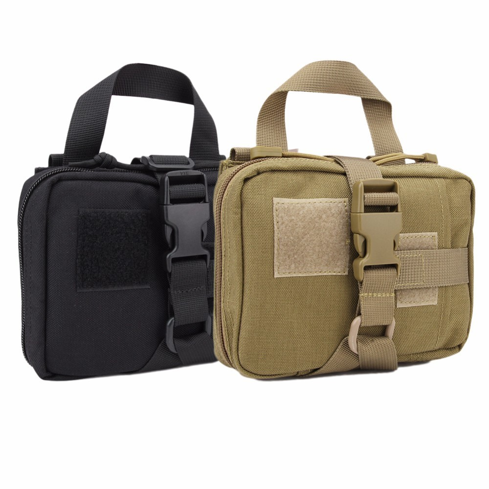 Portable Medical Bag Outdoor Survival First Aid Kit Military Tactical Bag Tools Medicine Bag Belt Pouch Hiking Sports