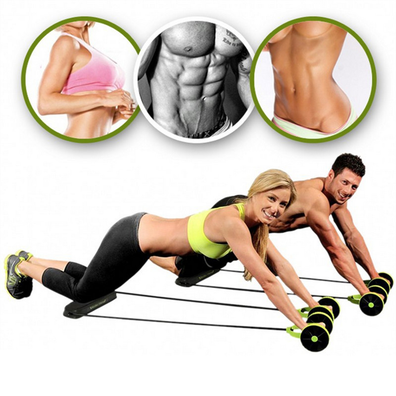 New Muscle Exercise Equipment Home Fitness Equipment Double Wheel Abdominal Power Wheel Ab Roller Gym Roller - Muscle Exercise Equipment Home Fitness Equipment Double Wheel Abdominal Power Wheel Ab Roller Gym Roller Trainer Training