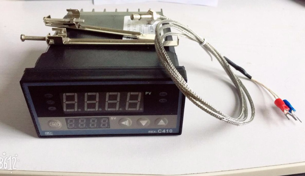 цена на Dual Digital REX-C410 RKC display PID temperature controller with 1M thermocouple K SSR output / Relay output