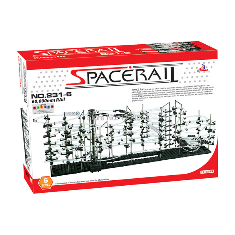 HOT SALE DIY Educational Toys SPACERAIL Roller coaster LEVEL 6 3500 warp drive 231 6 SPACEWARP
