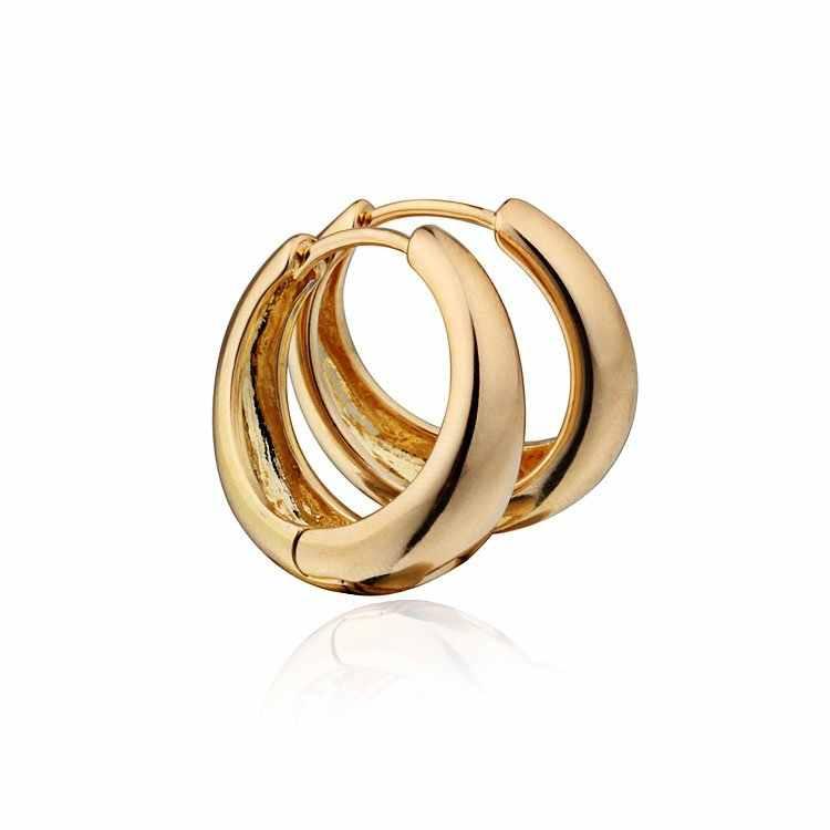 Satış altın CC Hoop küpe kadınlar için altın küpe Brinco Ouro kulak manşet Ohrringe buklet Doreille Bijoux Femme E0204