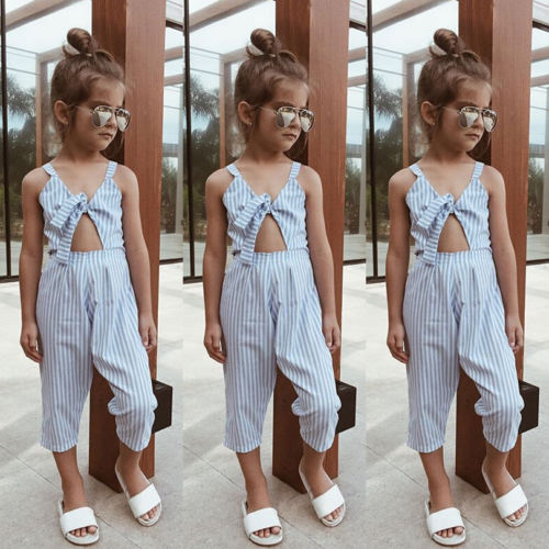 Baby Toddler Girls Boys Suspenders Denim Pants Jumpsuits 1-6 Years Old Kids Summer Clothes Overalls Playsuits
