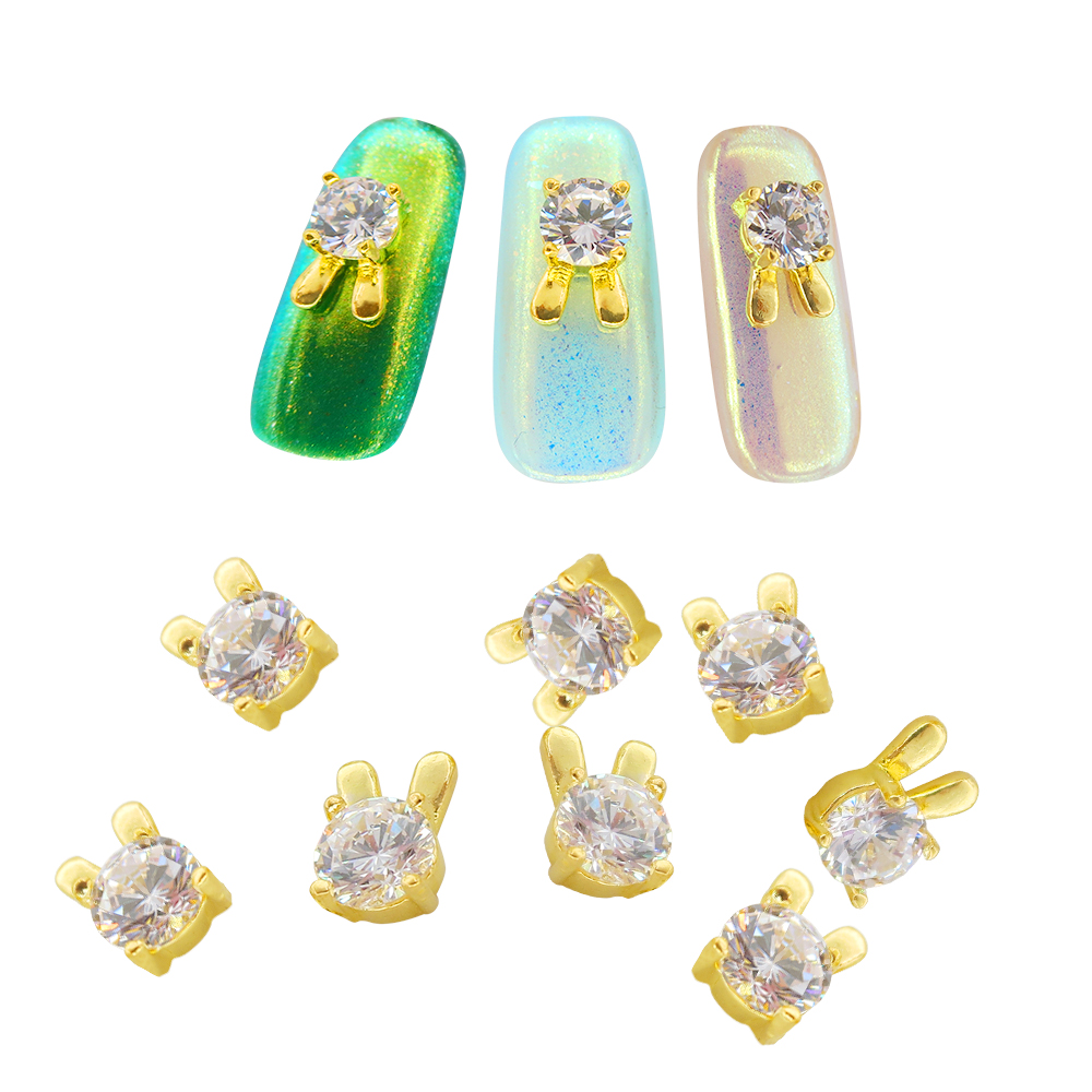 5pcs 18 Style Crystal Rhinestone For Nails Jewelry Nail Decoration Heart Crown Shape Mix Alloy Metal Art Charm In Rhinestones Decorations