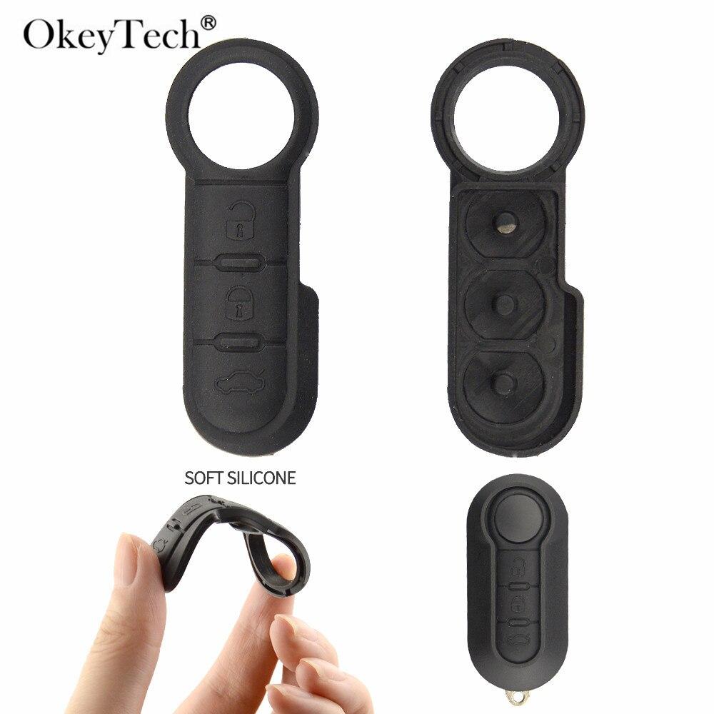 Okeytech High Quality Remote Car Key Pad For Fiat 500 3 buttons  ar Remote Flip Key Silicon Button rubber For Fiat Pad keyOkeytech High Quality Remote Car Key Pad For Fiat 500 3 buttons  ar Remote Flip Key Silicon Button rubber For Fiat Pad key