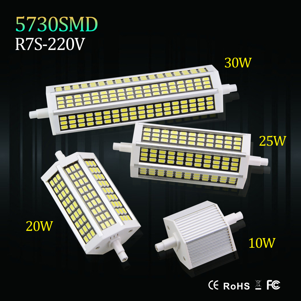 High lumen r7s led lights smd5730 10w 20w 25w 30w bulb for R7s led 78mm 20w