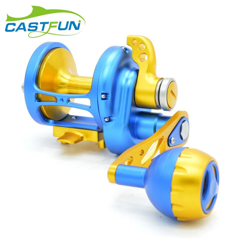 CASTFUN Jigging Reel 11BB Max Power 30kg Full Metal Heavy Trolling Reel Slow Jigging Reel Fishing Reel Saltwater Wheel