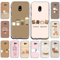 Coffee Wine Cup book Hard Phone Cover Case For Samsung Galaxy J1 3 5 J2 3 5 Prime J3 7 2017US EU