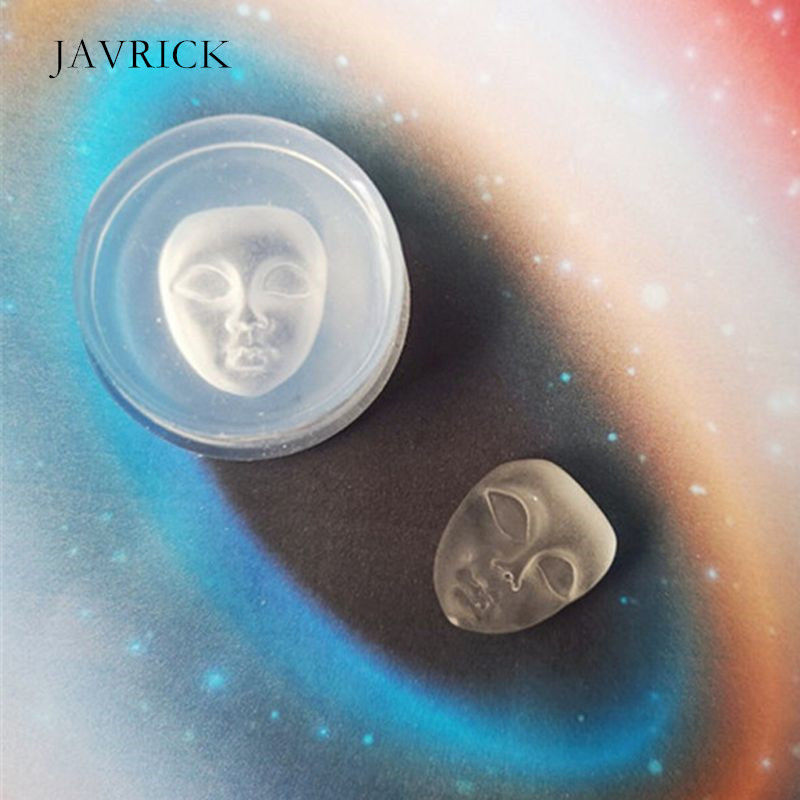 Human Face Pendant Silicone Resin Mold Soap <font><b>Wax</b></font> Candle Mold DIY Earrings Necklace Keychain Accessories <font><b>Jewelry</b></font> Making <font><b>Tool</b></font> image