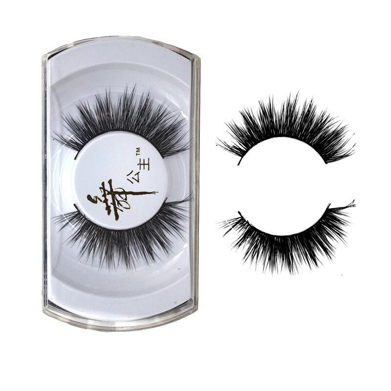 1 Pair False Eyelash Mink Hair Natural Long Fake Eyelashes for small eyes Charm Hand Made Makeup Tool Extension Eyelash Y-4