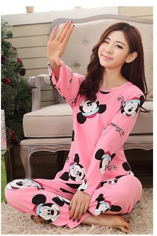 Foply Pajamas 2018 Spring Women Ladies Sexy Satin Pajamas Sets Long Sleeve Tops+Pants Sleepwear Mujer Nightwear Pyjama Femme