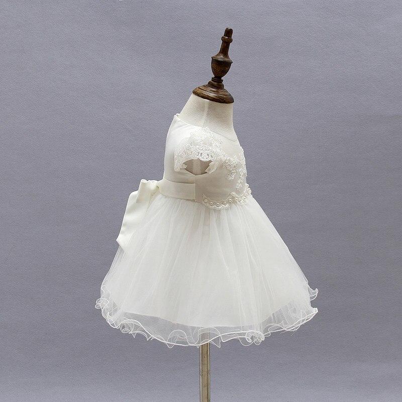 2018 Summer Baby Girl Dress White Lace Christening Gown Flower Girl