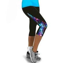 Women Ladies Floral Sports Yoga Fitness Leggings Gym 3/4 Slim Cropped Pants Sport Tights Woman Fitness Seamless Leggings#15
