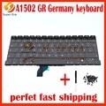 5 шт./лот новый оригинальный для macbook pro 13 ''retina A1502 Германия Немецкий GR замена клавиатуры клавир без подсветки с подсветкой