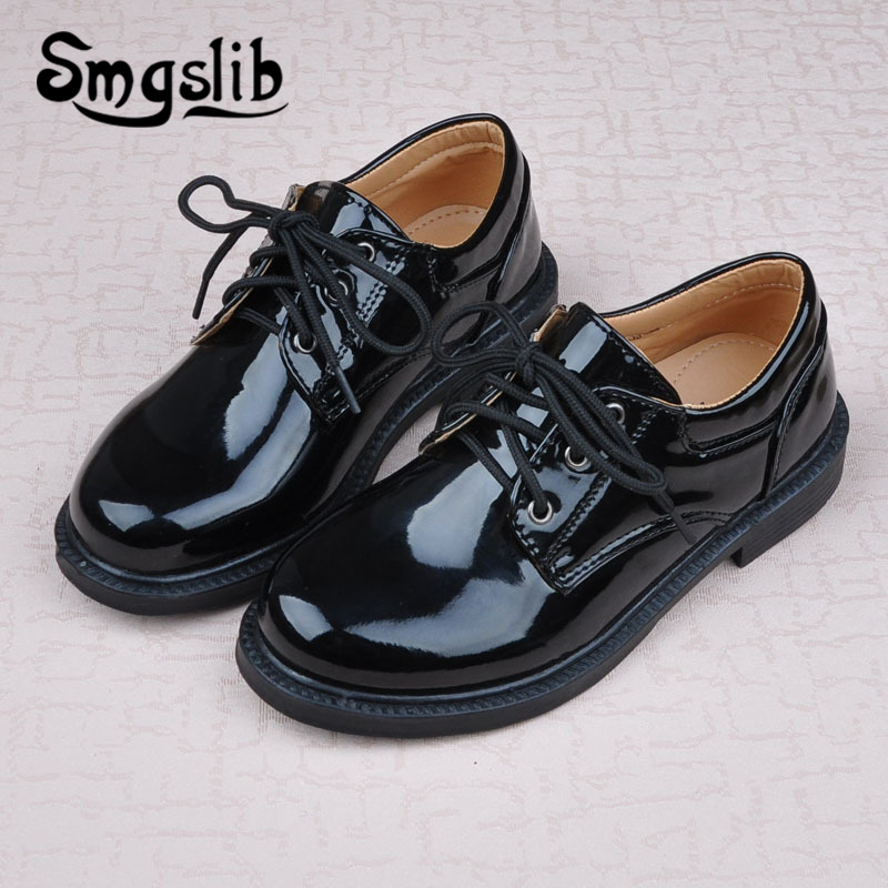 Us 16 41 35 Off Children Shoes Girls Black Shoes Kids 2019 Children Boy School Party Toddler Sneakers Teenager Loafers Party And Wedding In Leather