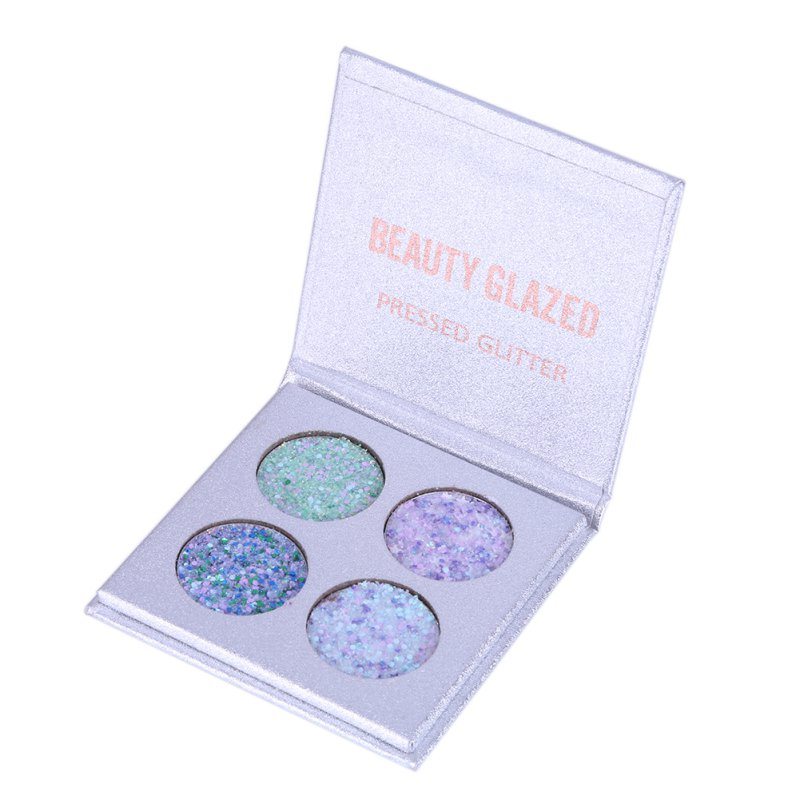 Beauty Glazed 4 Colors Eyeshadow Palette Matte Diamond Glitter Foiled Eye Shadow 1PC Palette Blush Makeup Cosmetic Set 17