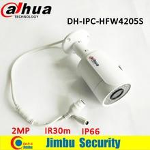 Оригинал Dahua 2-МЕГАПИКСЕЛЬНАЯ ip-камера DH-IPC-HFW4205S ИК 30 м пуля 1080 P камеры H.264 водонепроницаемый IP66 используется в открытый мини камера