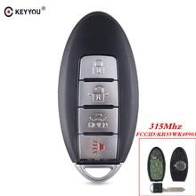 KEYYOU สำหรับ NISSAN Teana Altima Maxima สำหรับ Infiniti KR55WK48903 สมาร์ทคีย์ Fob 4 ปุ่ม Remote Key Keyless 315 Mhz
