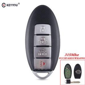 Image 1 - KEYYOU dla nissan teana Altima Maxima dla Infiniti KR55WK48903 obudowa inteligentnego pilot z kluczykiem samochodowym 4 przyciski klucz zdalny centralny zamek z 315Mhz
