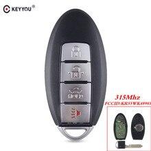KEYYOU funda de mando a distancia inteligente, sin llave, 4 botones, 315Mhz, para NISSAN Teana Altima Maxima, Infiniti KR55WK48903