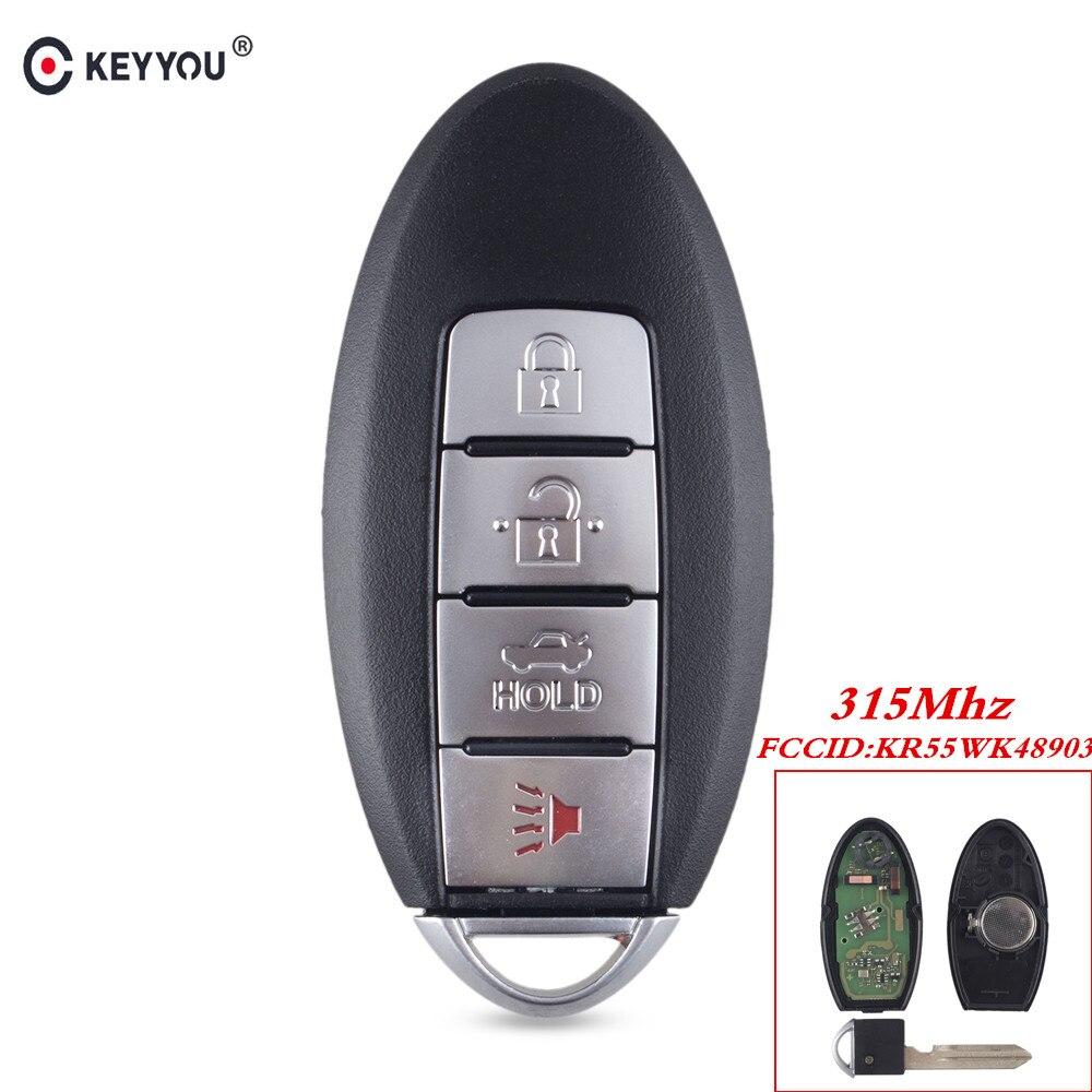 Keyyou para nissan teana altima maxima para infiniti kr55wk48903 inteligente remoto chave fob 4 botões remoto chave keyless 315 mhz