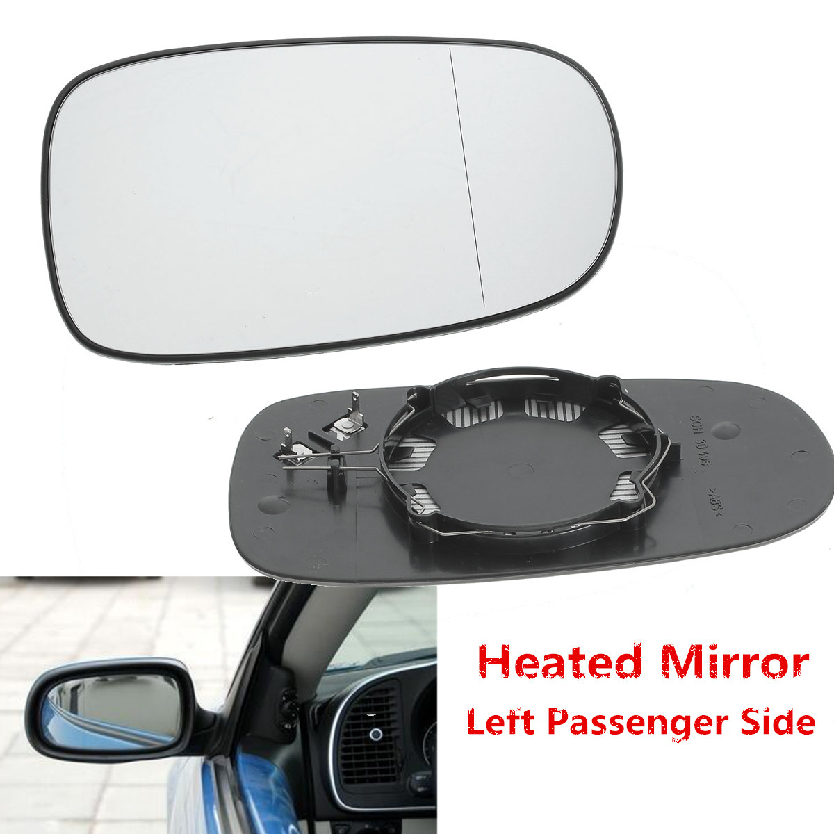 One Left Or Right Complete Electric Door Wing Mirror Glass For Ford