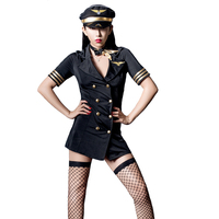 Sexy sexy lingerie windbreaker flight attendant uniform Sexy Suit For Women Dress Cosplay Deep V Sex Plot Temptation For Couple