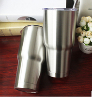WOWSHINE Free shipping  stainless steel 304 double layer vacuum cup car cup 30OZ send with a gift stainless steel straw tumbler