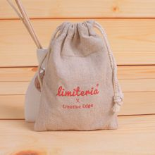 Personalized logo Cotton Linen Drawstring Gift Bags 8x10cm(3x4) 500pcs Print Company/Store Logo or The Bride and Groom Name