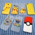 Nueva Capa Caso Pikachu Pokeball Pokemon Ir Clara Transparente para el iphone 5 5S 6 6 s 6 más 6 s plus Ultrafino TPU Cubierta Suave p20