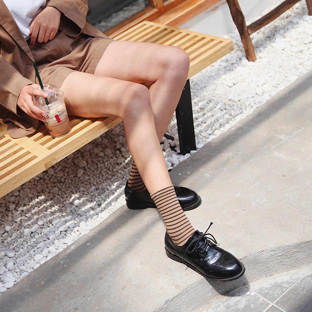 חורף נשים חם פס גרבי אמצע צינור כותנה רטרו סגנון אופנה גרב מצחיק מודפס חמוד גרבי נשים harajuku kawaii 2019