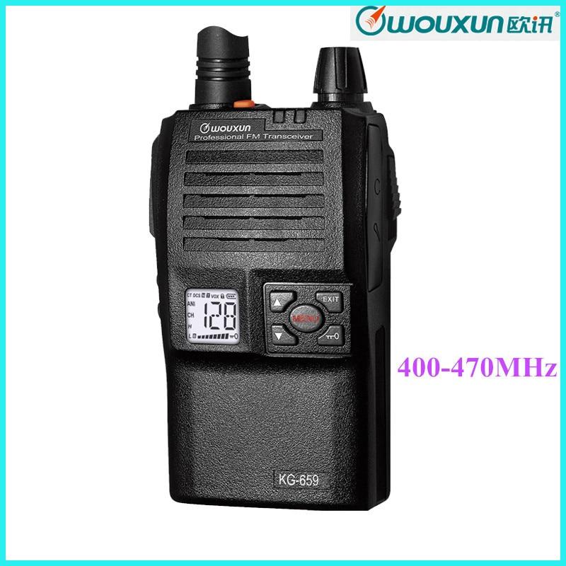 Wouxun Ham Radio Transceiver KG 659 400 470MHz 128 Channels Long Range font b Walkie b
