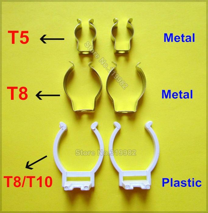Fluorescent Light Fixture Clips: 20 Pcs/lot T5 T8 T10 LED Tube Lamp Wedge Base Clip Holder