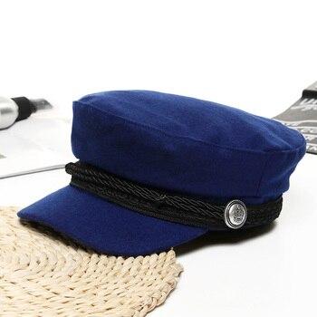 Women Baseball Cap Hats For Women Winter Octagonal Fashion French Wool Baker's Boy Hat Cap Female Black Streetwear Caps 2019 8