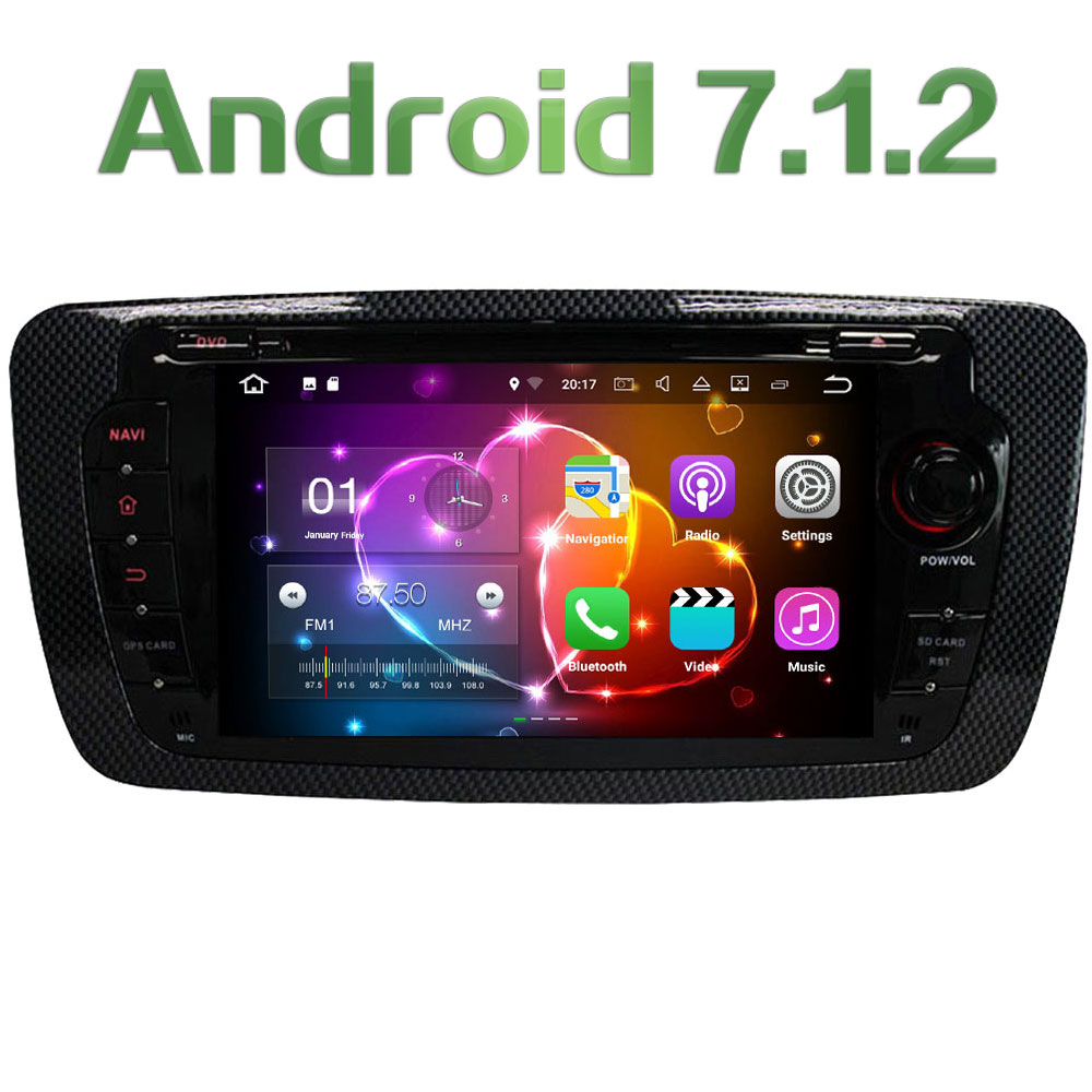 7 HD Audio 2GB RAM Quad Core Android 7 1 Multimedia 4G BT Car DVD Player
