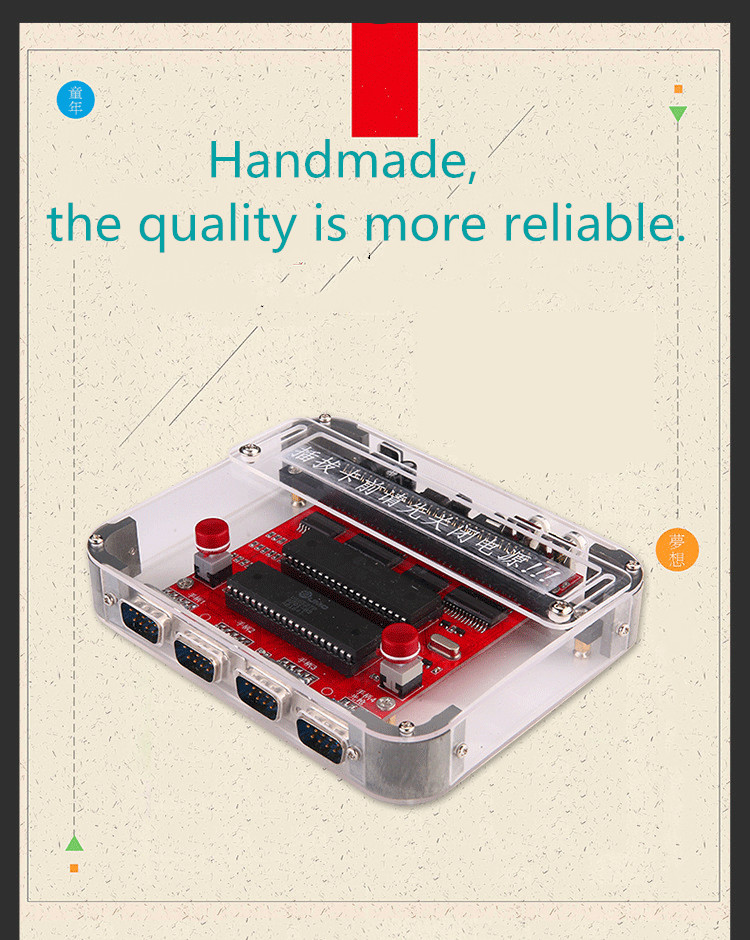 Coolbaby RS-40 Game Console  Diy Mini Nostalgic Red And White TV Nostalgic FC Homemade Classic Double Battle Controller