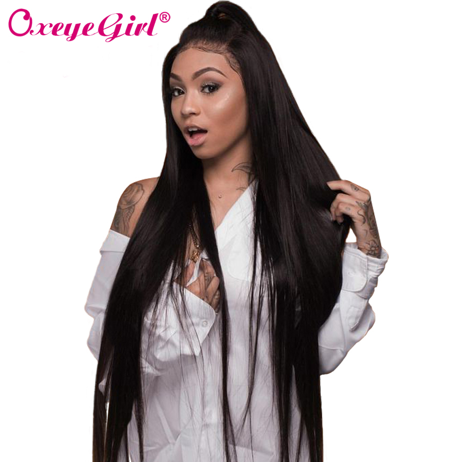 Straight Lace Front Wig Human Hair Wigs For Black Women Brazilian Lace Wig With Baby Hair Remy Hair Natural Hairline Oxeye girl