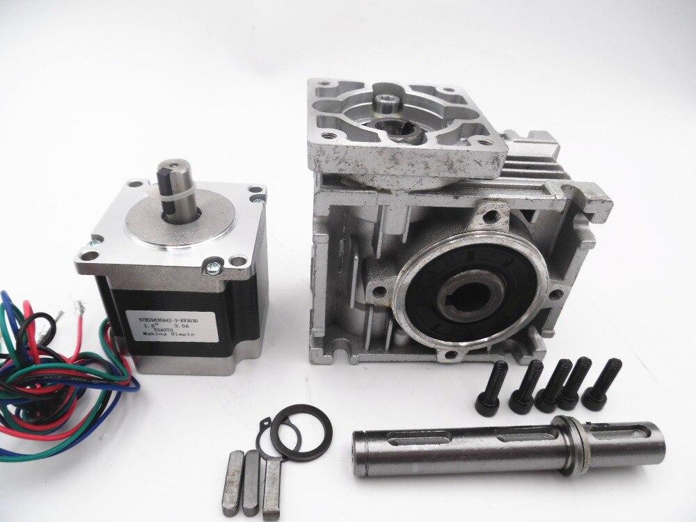 NEMA23 Worm Gear Stepper Motor RV30 Worm Reducer Ratio 30:1 High-Torque L56mm 3A For Decorating Machine