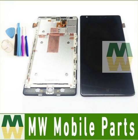 1 pc/lote original para nokia lumia 1520 n1520 lcd display + touch screen com frame + ferramentas gratuitas digitador montagem completa