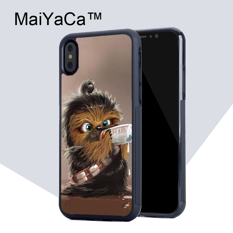 MaiYaCa Chewbacca Baby Funny Star Wars Back Cover Case For Apple iPhone X TPU Mobile Phone Accessories Bag Cases for iPhone X