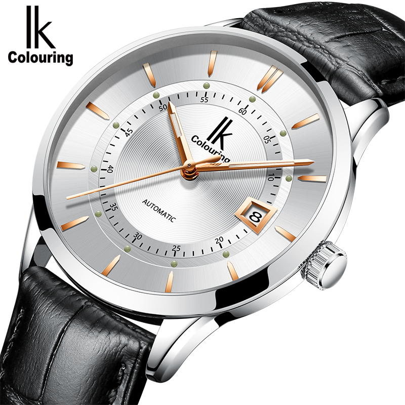 IK Classic Mens Watches AUTO Date automatic Mechanical Watch Self-Winding Analog Skeleton Male Waterproof Man WristwatchIK Classic Mens Watches AUTO Date automatic Mechanical Watch Self-Winding Analog Skeleton Male Waterproof Man Wristwatch