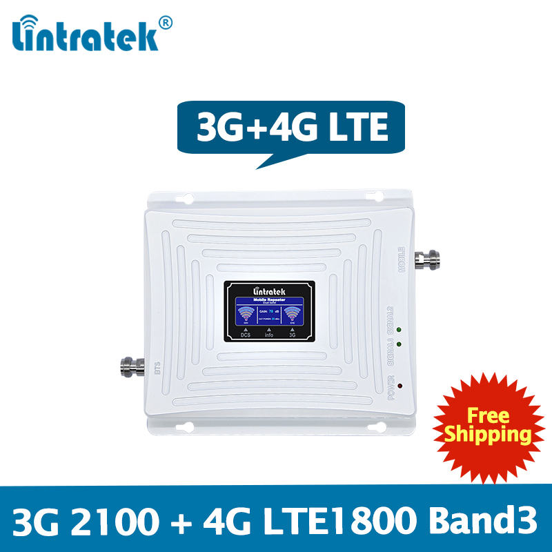 Lintratek 3G 4G Signal Booster 2100 1800Mhz Repeater 3G 2100 UMTS Booster 4G LTE 1800Mhz Band1/3 Signal Amplifier Dual Band #6